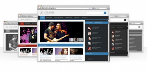 JD Oganis - Robust Media Theme for Drupal